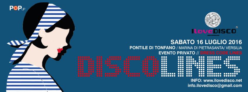 'DISCO LINES': l'evento più atteso dell'estate 2016